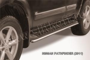 NISSAN PATHFINDER (2011)-Защита штатного порога d42